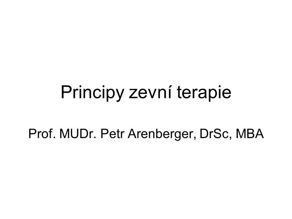 Principy zevní terapie Prof. MUDr. Petr Arenberger, DrSc, MBA