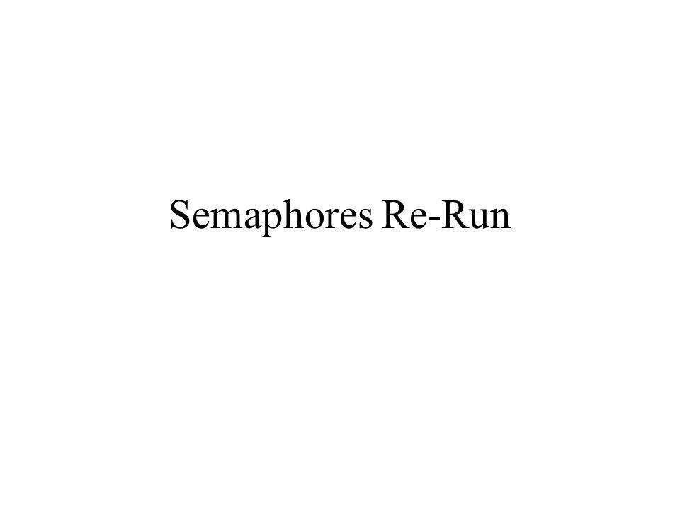 Semaphores Re-Run