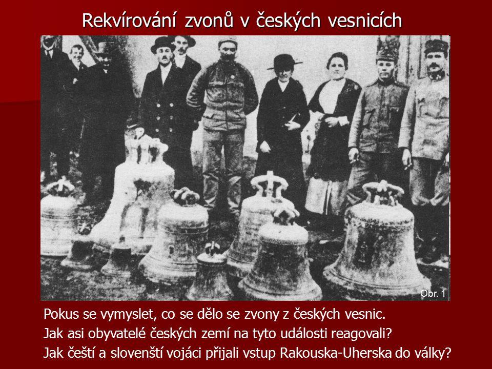 Rekvírování zvonů v českých vesnicích Pokus se vymyslet, co se dělo se zvony z českých vesnic.
