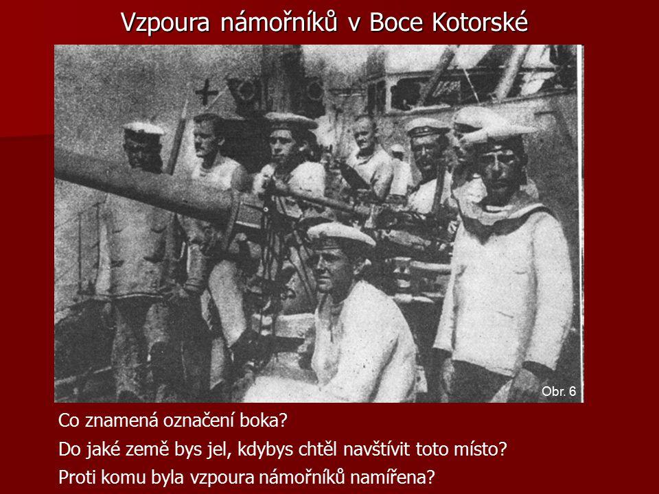 Vzpoura námořníků v Boce Kotorské Co znamená označení boka.