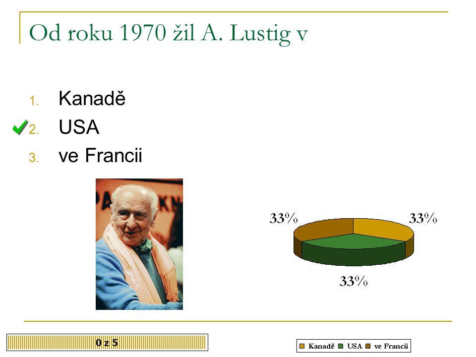 V letech 1995 – 1997 byl Lustig šéfredaktorem české mutace časopisu Playboy. Souhlasíte? 1. Ano 2. Ne 0 z 5
