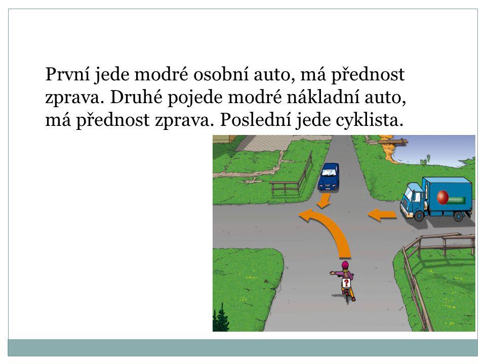 Pracovní list - řešení První pojede modré a zelené auto, uprostřed se míjí. Mají na semaforu zelenou. Po rozsvícení zeleného světla pojede žluté auto.