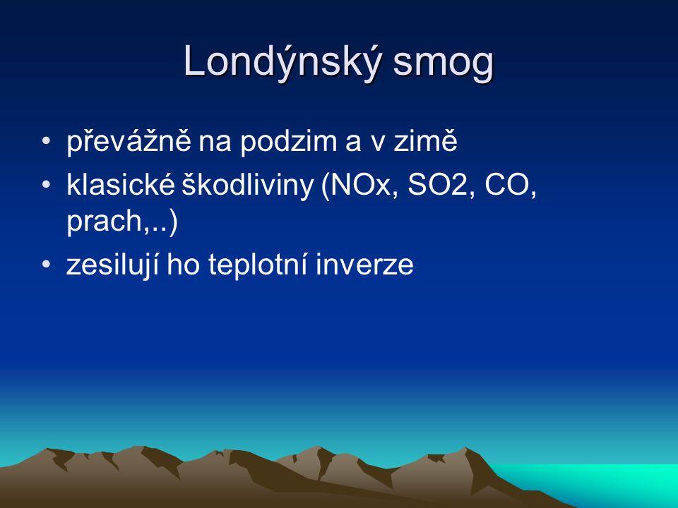 Londýnský smog problém smogu již ve středověku tzv.