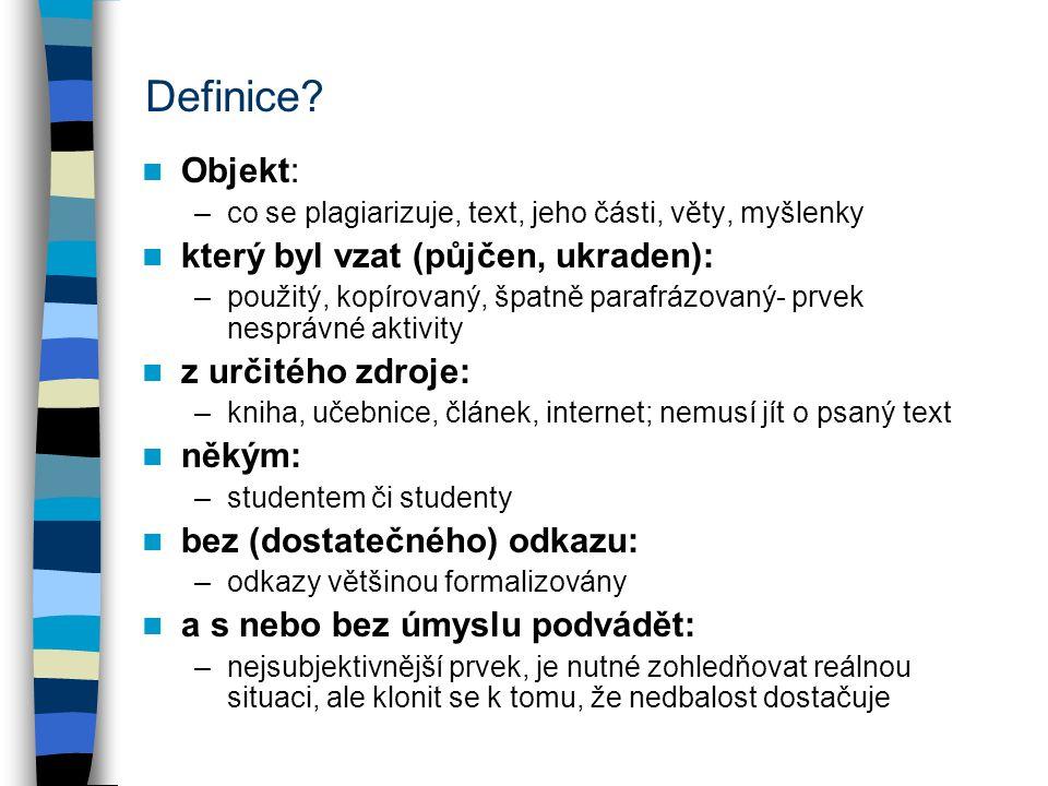 Definice.