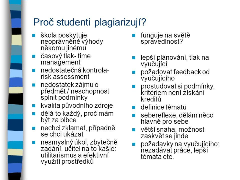 Proč studenti plagiarizují.