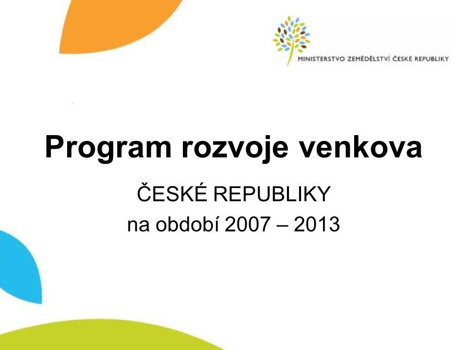 Nařízení Rady (ES) č.1698/2005 ze dne 20.
