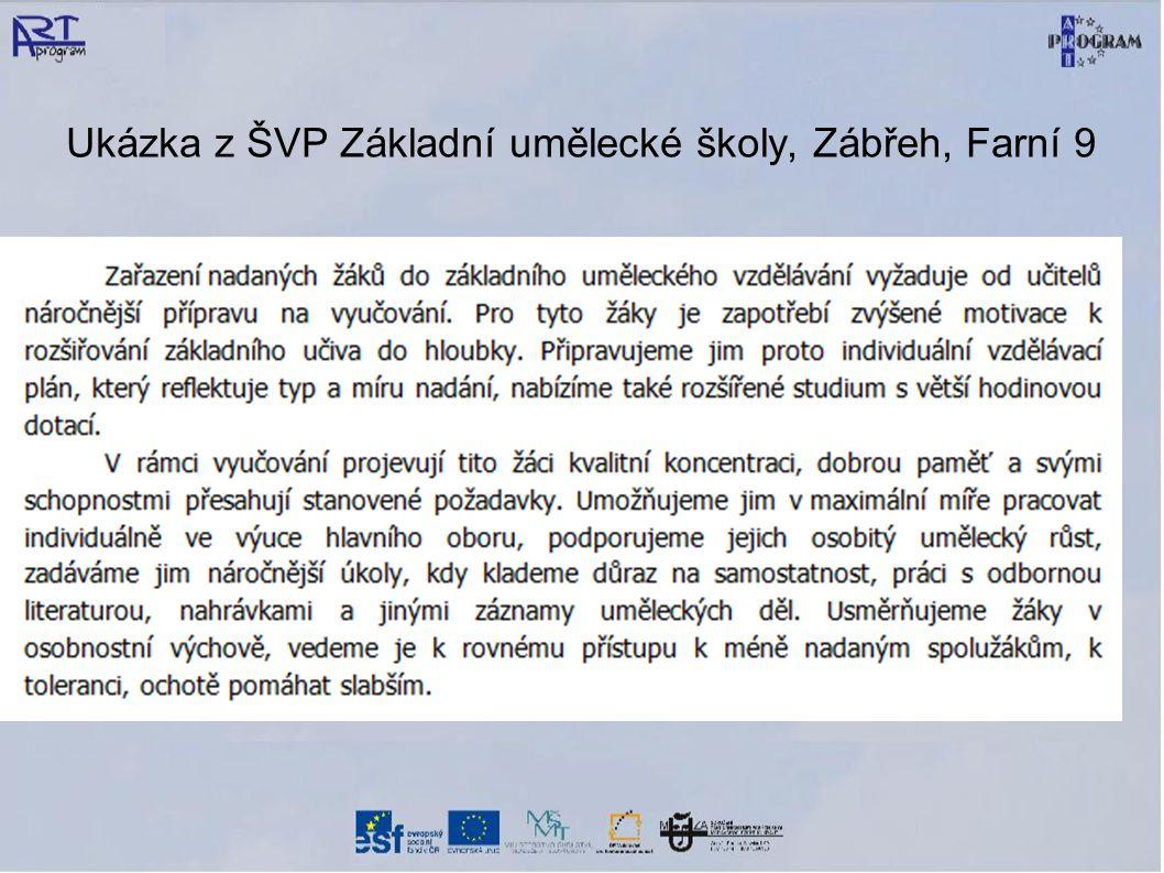 Ukázka z ŠVP Základní umělecké školy, Zábřeh, Farní 9