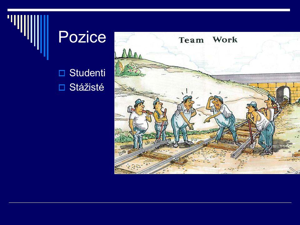 Pozice  Studenti  Stážisté