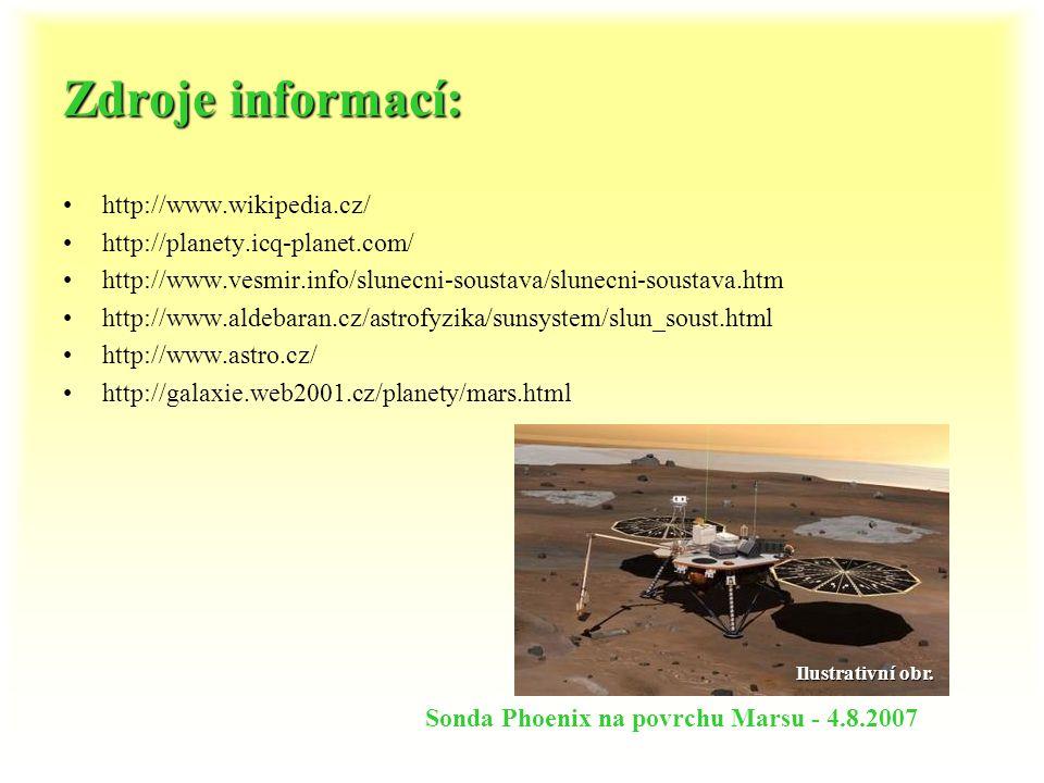 Hmotnost planet (v kg) Merkur 3,300.10 23 Venuše 4,869. 10 24 Země 5,976. 10 24 Mars 6,418. 10 23 Jupiter 1,899. 10 27 Saturn 5,685. 10 26 Uran 8,680.