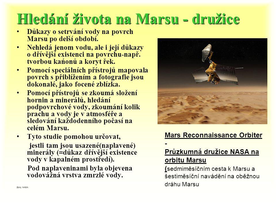 Průzkum Marsu Mars je častým cílem sond a dokonce se plánuje přistání člověka na Marsu. První pokusy o přistání na Marsu podniklo 7 sovětských sond. T