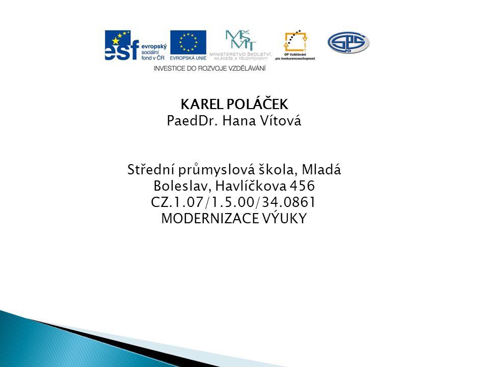 KAREL POLÁČEK PaedDr.