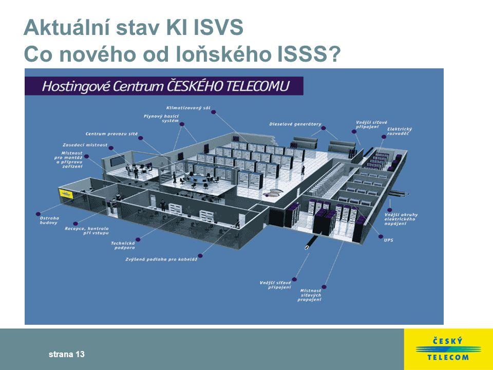 strana 13 Aktuální stav KI ISVS Co nového od loňského ISSS