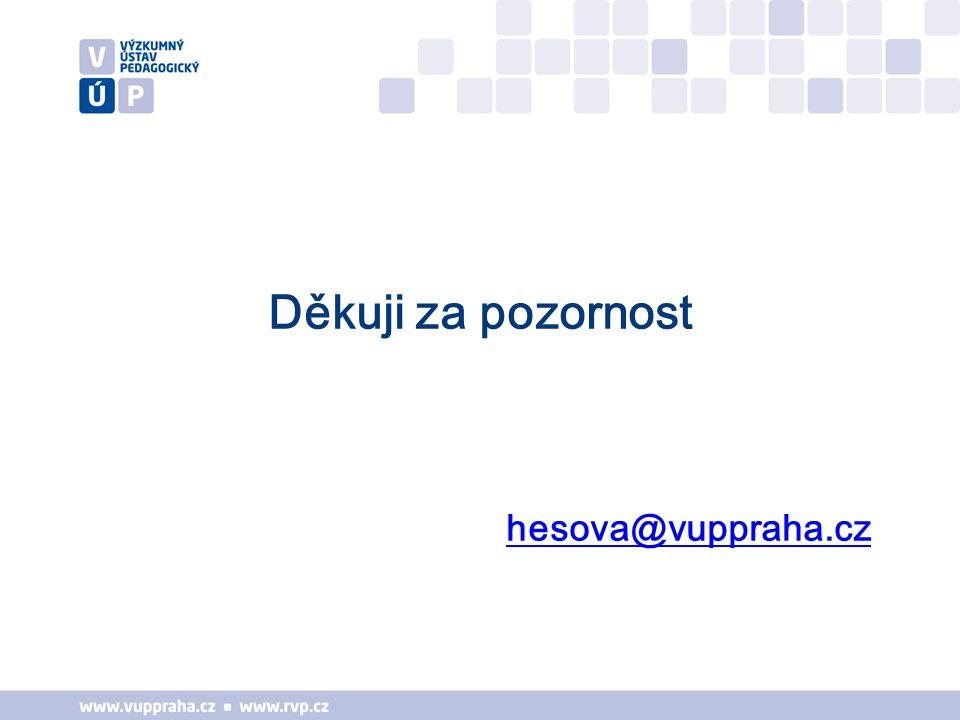 Děkuji za pozornost hesova@vuppraha.cz