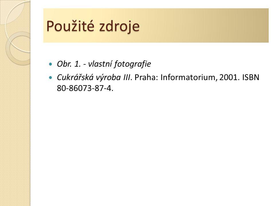 Použité zdroje Obr. 1. - vlastní fotografie Cukrářská výroba III.