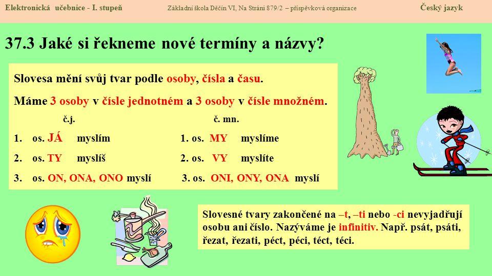 37.3 Jaké si řekneme nové termíny a názvy. Elektronická učebnice - I.