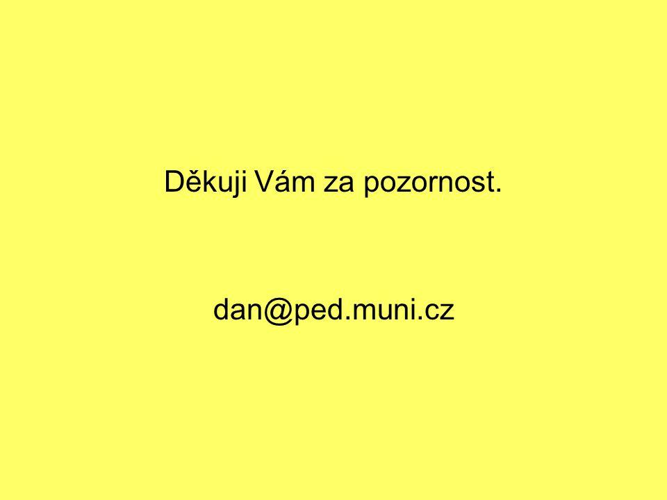 Děkuji Vám za pozornost. dan@ped.muni.cz