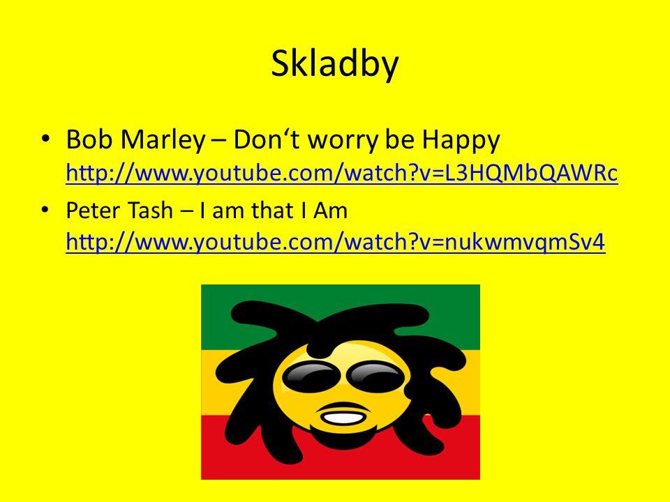 Zdroje http://cs.wikipedia.org/wiki/Reggae#Reggae_sound_v_21._stolet.C3.AD http://en.wikipedia.org/wiki/Reggae http://en.wikipedia.org/wiki/Bob_Marley https://www.google.cz/search?q=reggae&biw=1100&bih=759&source=lnms&tbm =isch&sa=X&ei=L2l7VLa5O8buyQPmnIKADA&sqi=2&ved=0CAYQ_AUoAQ#facrc=_& imgdii=_&imgrc=pGadMxMzrxmEfM%253A%3Bcy9Zsd1g9PYCCM%3Bhttp%253A% 252F%252Fp1.pichost.me%252Fi%252F35%252F1577348.jpg%3Bhttp%253A%252 F%252Fhdw.eweb4.com%252Fsearch%252Freggae%252F%3B1920%3B1200