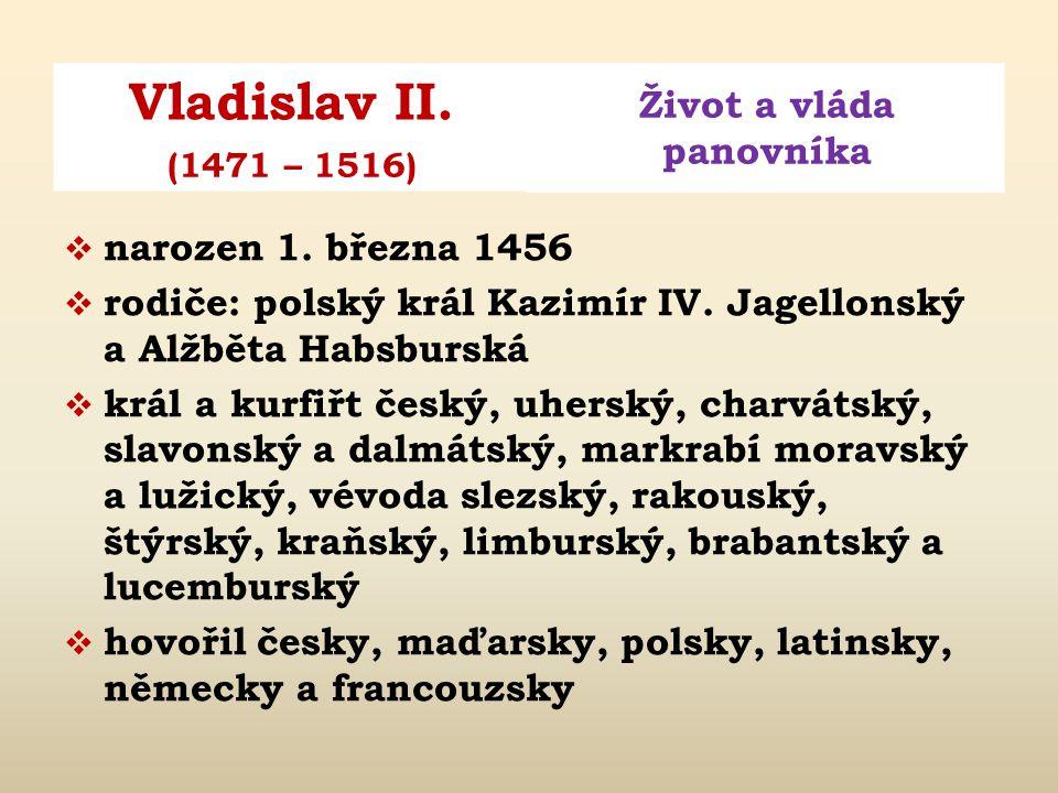 Obr. 1: Vladislav na malbě z roku 1509 od Mistra Litoměřického oltáře.