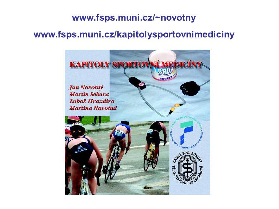 www.fsps.muni.cz/~novotny www.fsps.muni.cz/kapitolysportovnimediciny