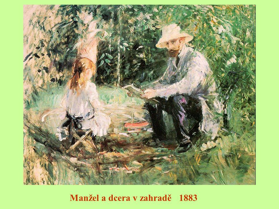 Žena a dítě v zahradě 1882