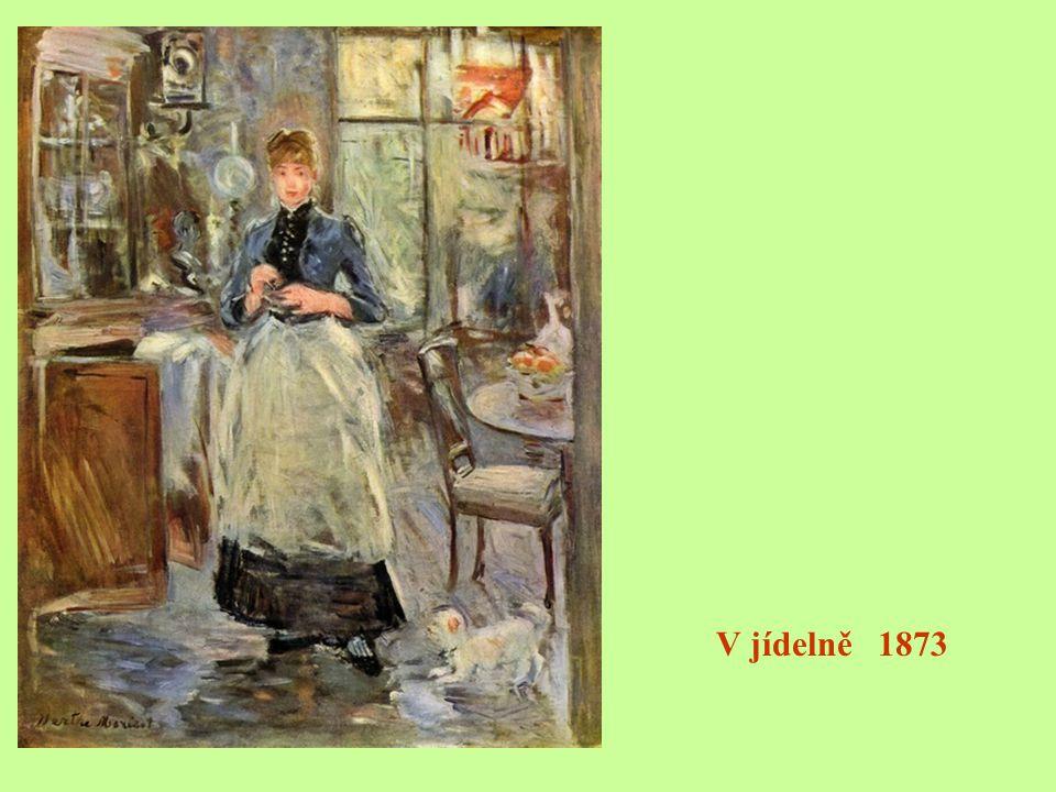 Žena oblečená na ples 1879