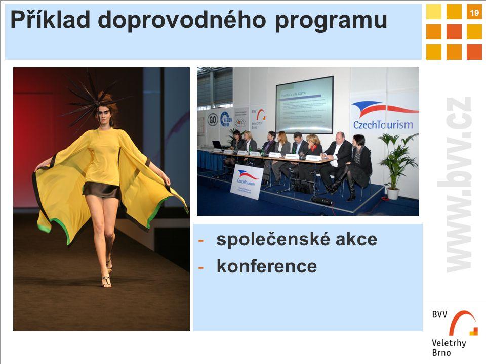 19 Příklad doprovodného programu - společenské akce - konference