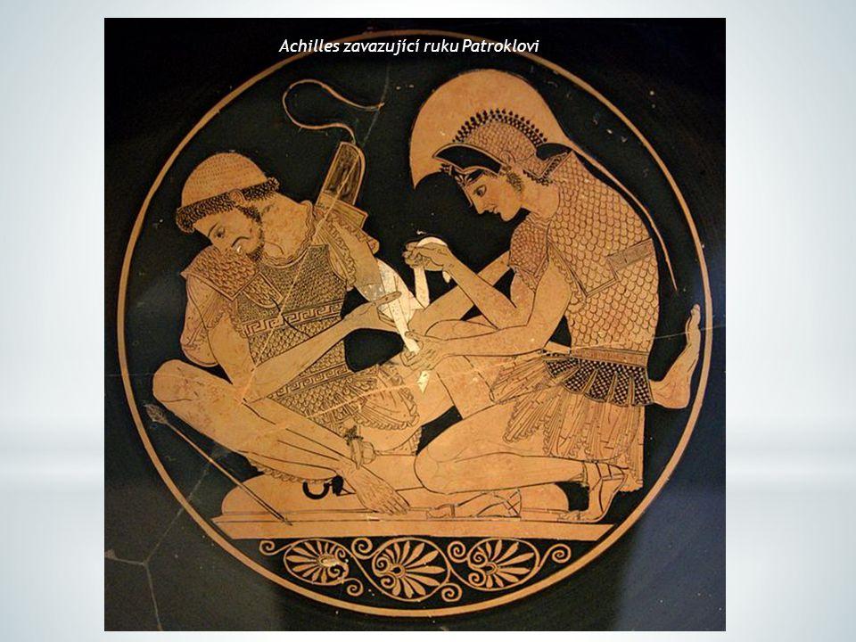 Achilles zavazující ruku Patroklovi