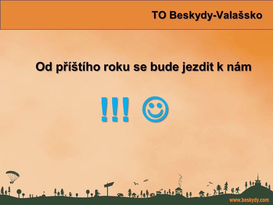 konference Východní Morava TO Beskydy-Valašsko TO Beskydy-Valašsko Od příštího roku se bude jezdit k nám Od příštího roku se bude jezdit k nám !!! !!!