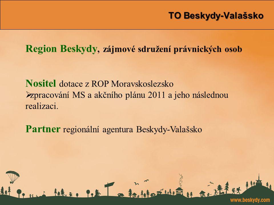 konference Východní Morava TO Beskydy-Valašsko TO Beskydy-Valašsko Region Beskydy, zájmové sdružení právnických osob Nositel dotace z ROP Moravskoslezsko  zpracování MS a akčního plánu 2011 a jeho následnou realizaci.