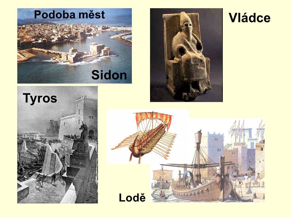 Sidon Tyros Podoba měst Vládce Lodě