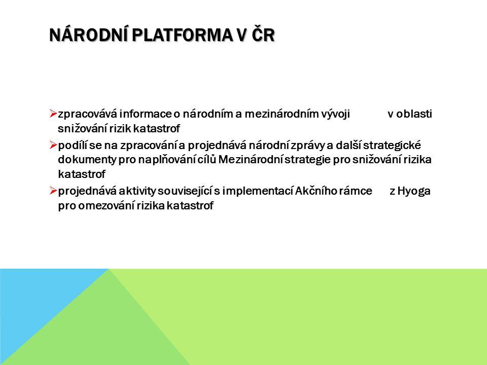 NÁRODNÍ PLATFORMA V ČR  projednává navrhovaná opatření (např.