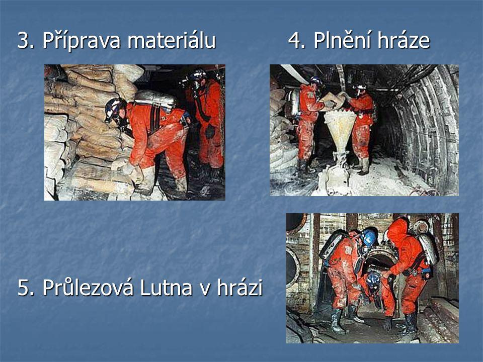 3. Příprava materiálu 4. Plnění hráze 5. Průlezová Lutna v hrázi