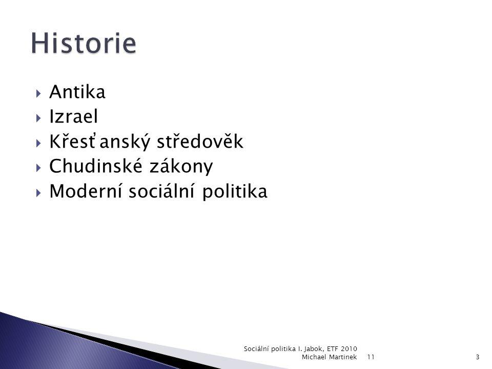  Definice  Historie  Teoretická východiska  Modely (anglosaský, skandinávský, německý)  Typologie (reziduální, institucionální, pracovně-výkonnostní)  Kritika 11 Sociální politika I.