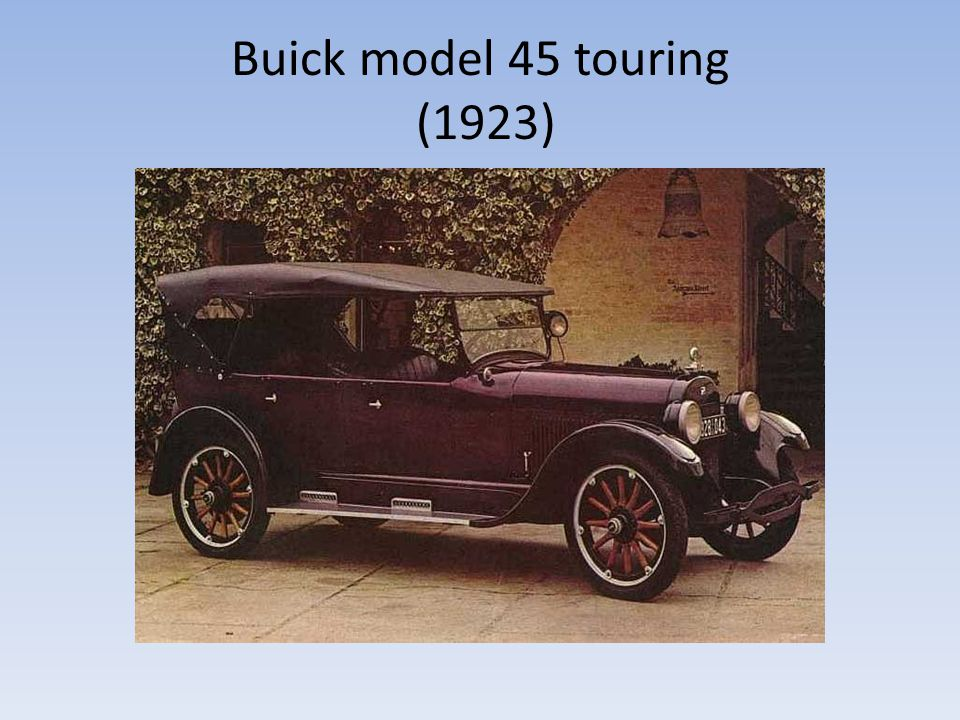 Buick model 45 touring (1923)