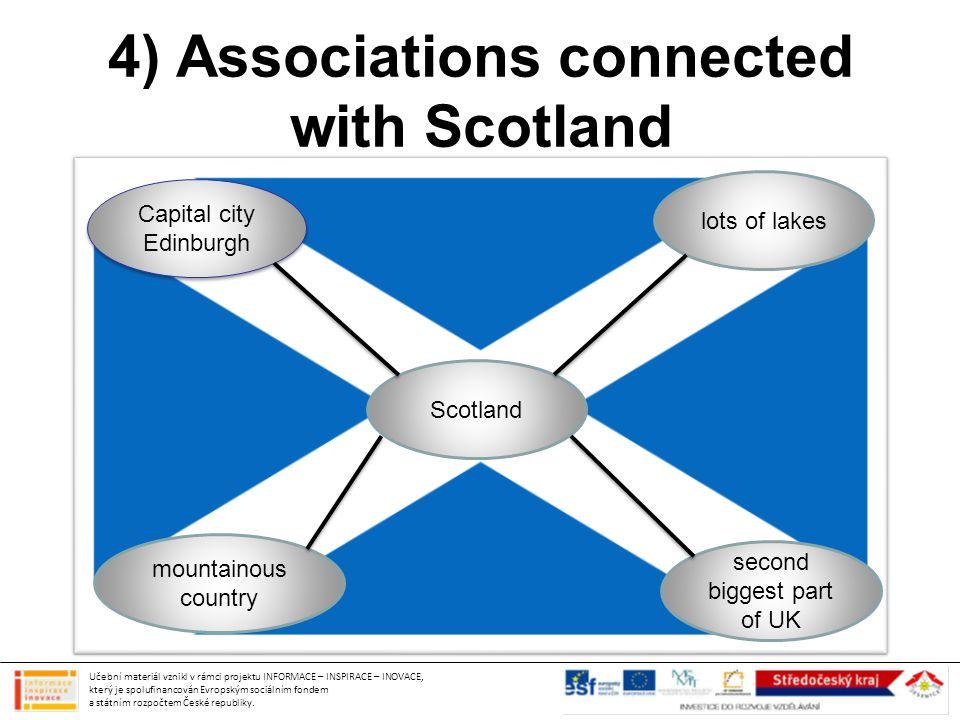 4) Associations connected with Scotland Učební materiál vznikl v rámci projektu INFORMACE – INSPIRACE – INOVACE, který je spolufinancován Evropským sociálním fondem a státním rozpočtem České republiky.