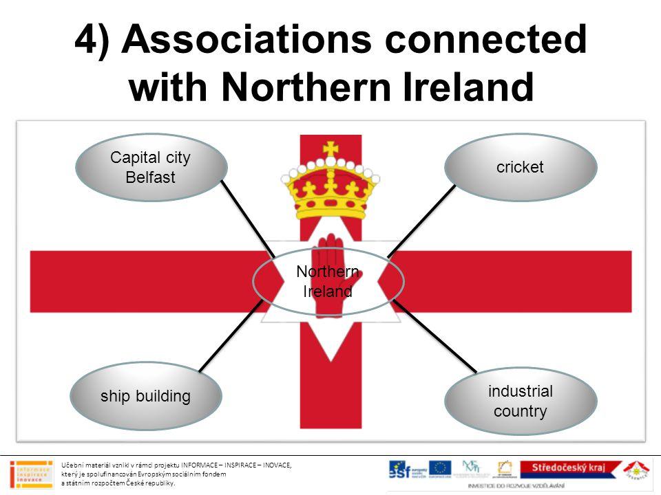 4) Associations connected with Northern Ireland Učební materiál vznikl v rámci projektu INFORMACE – INSPIRACE – INOVACE, který je spolufinancován Evropským sociálním fondem a státním rozpočtem České republiky.