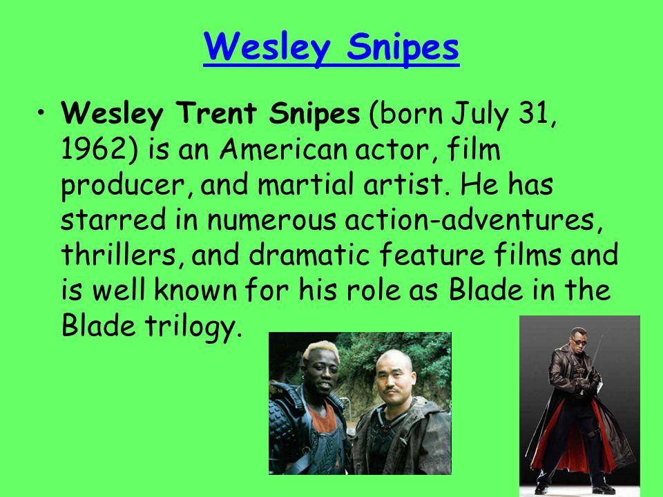 Snipes has been training in martial arts since age twelve, earning black belt in Shotokan Karate.