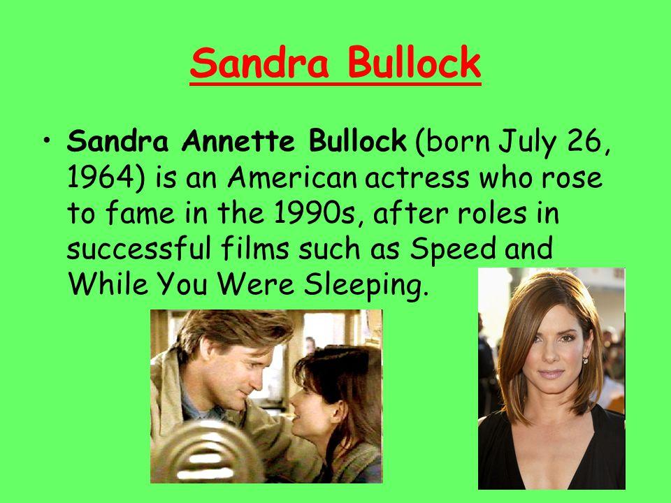 Sandra Bullock Sandra Bullock married motorcycle builder Jesse James on July 16, 2005.