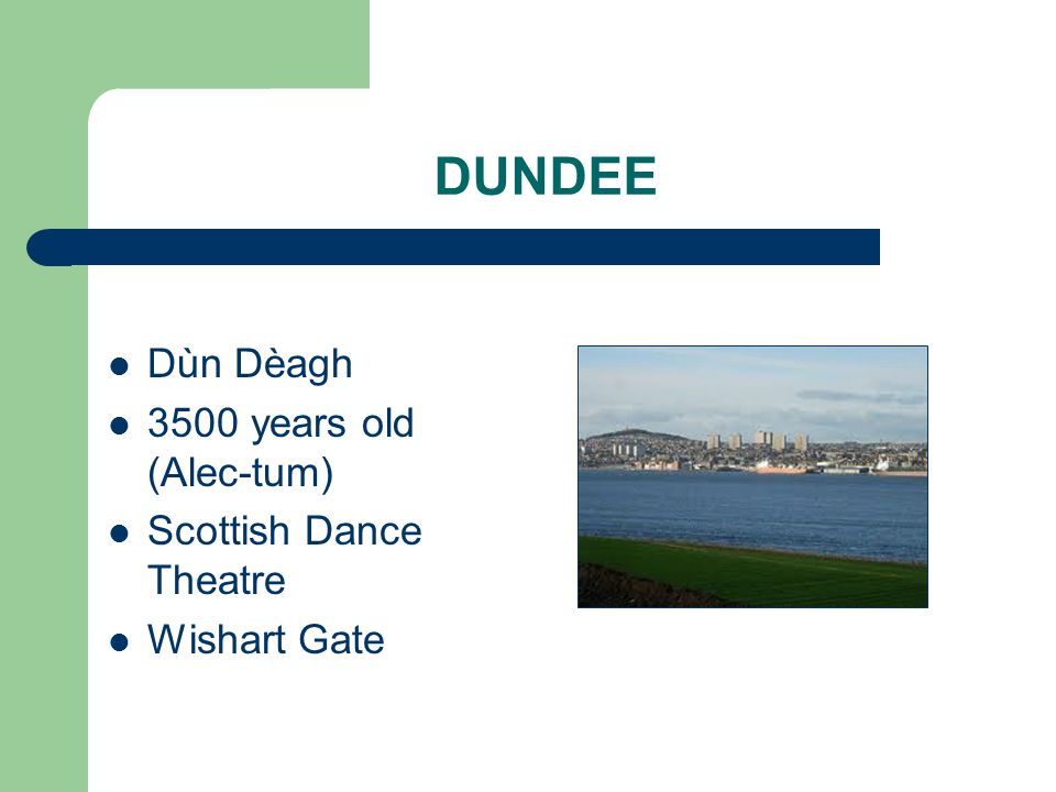 DUNDEE Dùn Dèagh 3500 years old (Alec-tum) Scottish Dance Theatre Wishart Gate