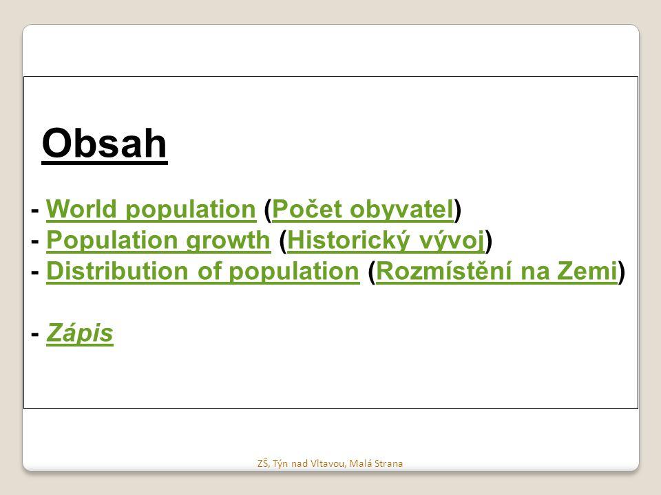 Obsah - World population (Počet obyvatel)World populationPočet obyvatel - Population growth (Historický vývoj)Population growthHistorický vývoj - Dist