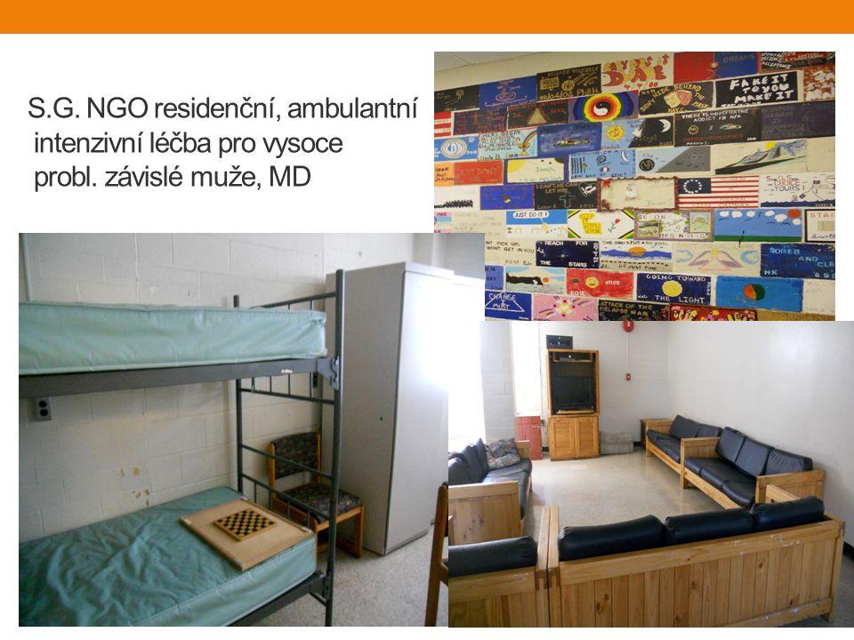 S.G. NGO residenční, ambulantní intenzivní léčba pro vysoce probl. závislé muže, MD