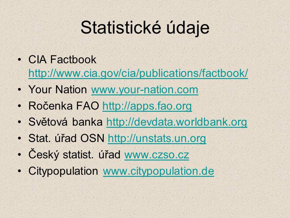 Mapy na Internetu - typy Statické mapy k prohlížení mapamapa Statické mapy interaktivní Dynamické mapy