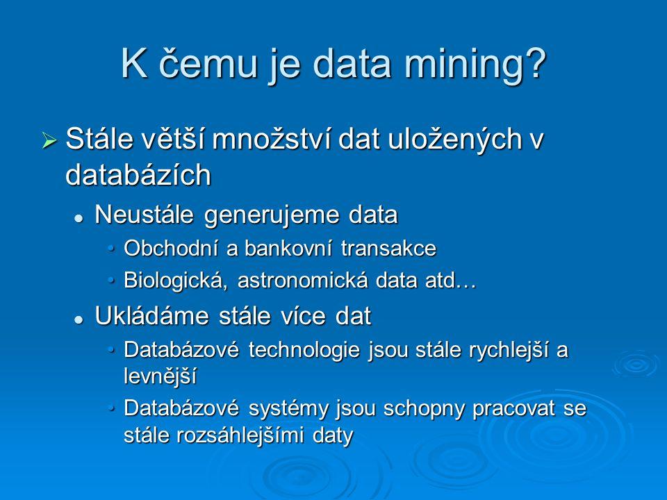K čemu je data mining.