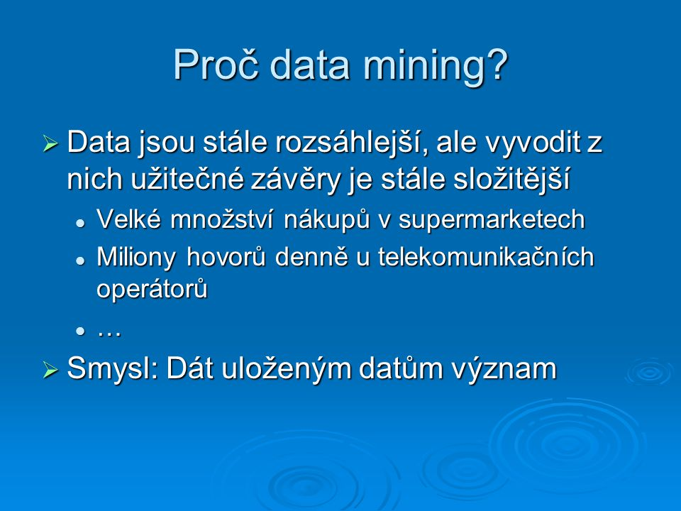 Co je to data mining.