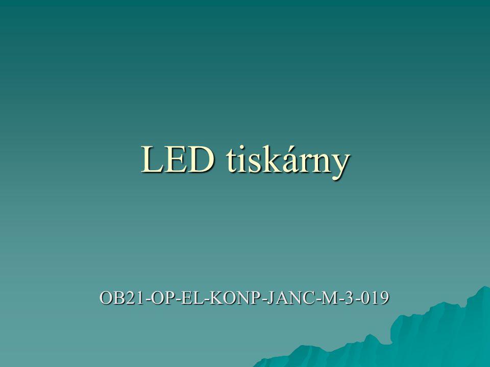  Alternativou k laserovému tisku je tisk využívající LED diod.