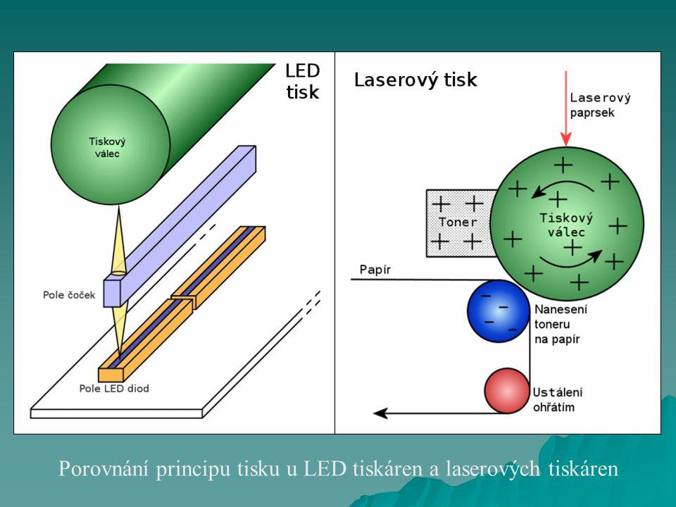 Porovnání principu tisku u LED tiskáren a laserových tiskáren