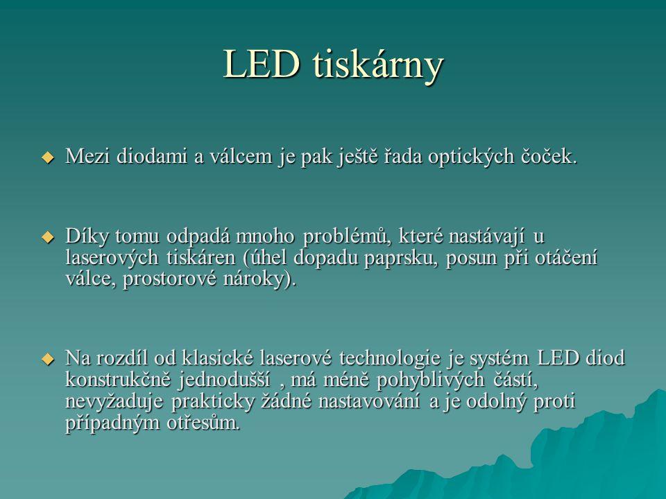 LED tiskárny Rozdílný způsob tisku LED tiskárny a tiskárny laserové.