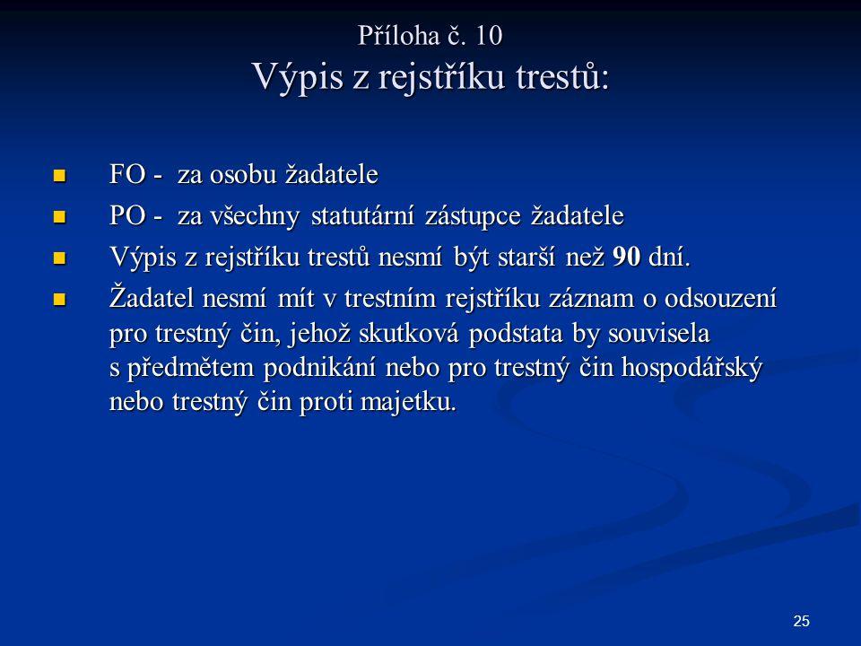 25 Příloha č.