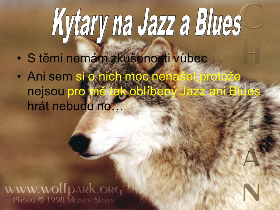 S těmi nemám zkušenosti vůbec Ani sem si o nich moc nenašel,protože nejsou pro mě tak oblíbený Jazz ani Blues hrát nebudu no…