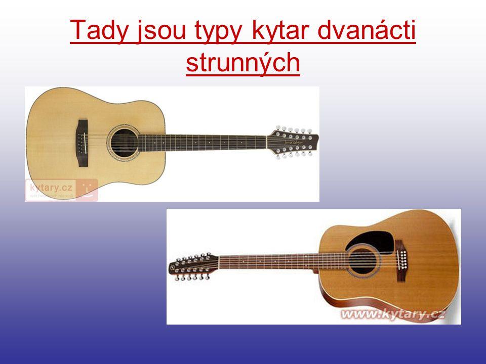 Tady jsou typy kytar dvanácti strunných